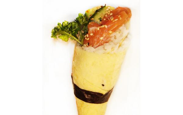 K8 témaki omelette avocat saumon