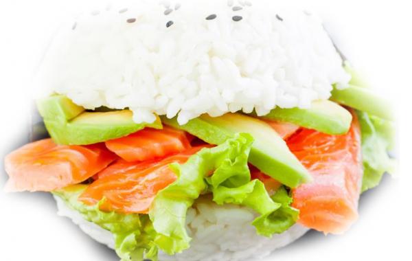 B23 Burger Sushi Saumon avocat